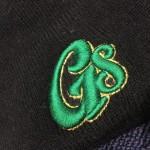 グリーン✖️ゴールドの刺繍のニューエラコラボニット帽